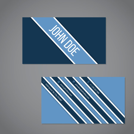 advertising design: Simplistic business card design with stripe design