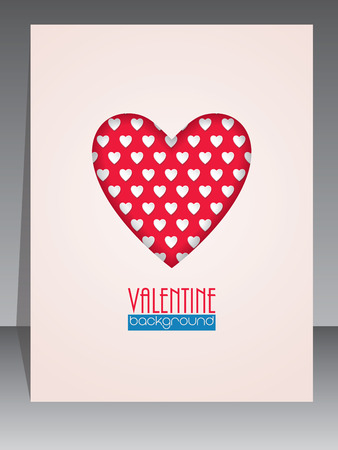 dating and romance: Cool greeting card with heart shape for Valentines day