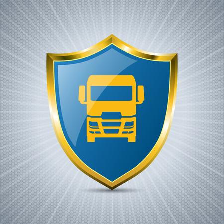 shield: Dise�o fresco de la placa del carro con el fondo estallido