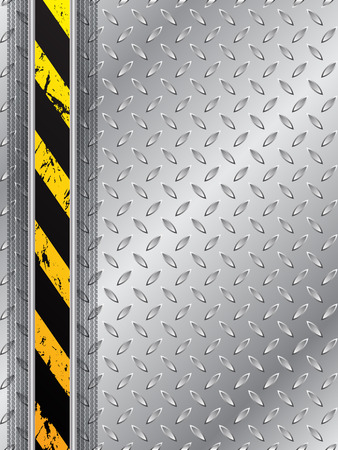 tread plate: Abstract industrial background design with tire track and striped bar