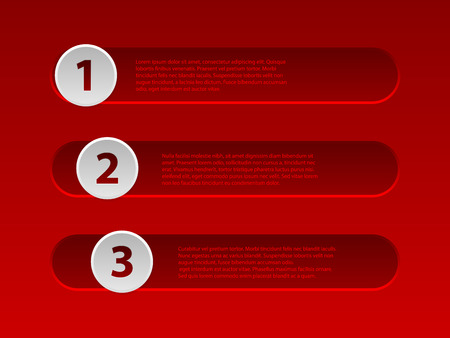slider: White slider style red infographic design with options