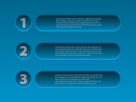 menu button: Simplistic yet cool 3d infographic design in blue color
