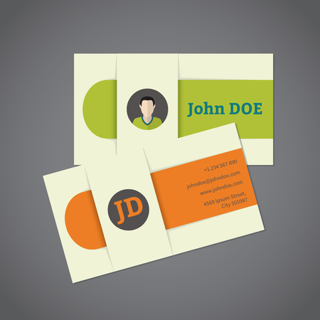 business card design: Business card design with photo and monogram