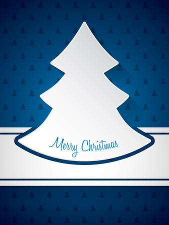 christmastree: Christmas greeting card design with christmastree pattern background