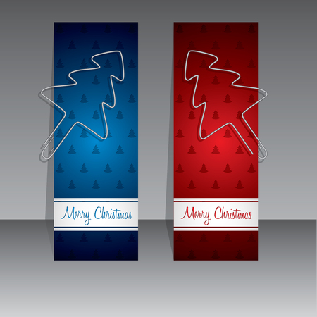 binder clip: Christmas shopping label template designs with binder clip christmas trees