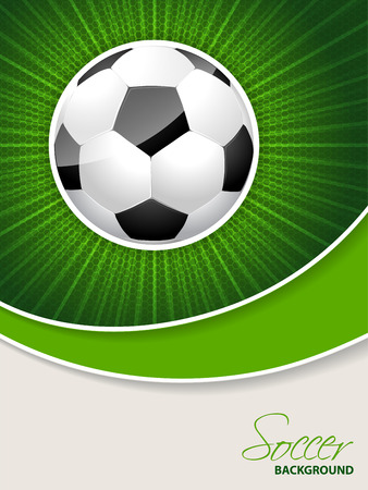soccer field: Abstract soccer brochure template with bursting ball Illustration