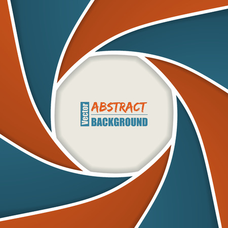 business focus: Abstract brochure with camera shutter design in blue orange colors Illustration