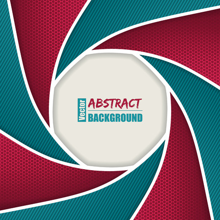 Abstract brochure with camera shutter design in  pink turquoise colors