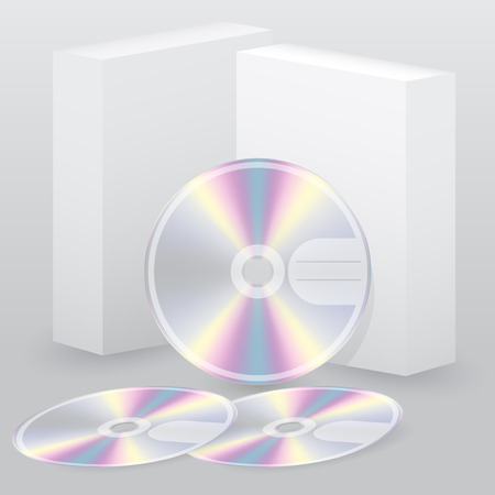 Two box with blank disc set of three Illustration