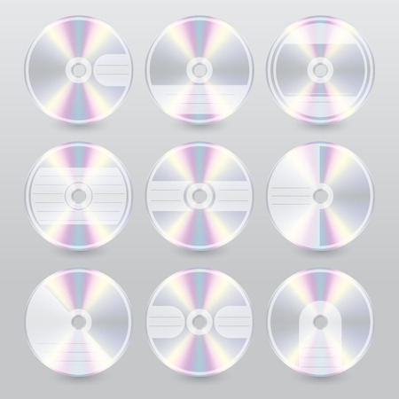 blu ray: Various cd dvd blu ray cover design set of 9