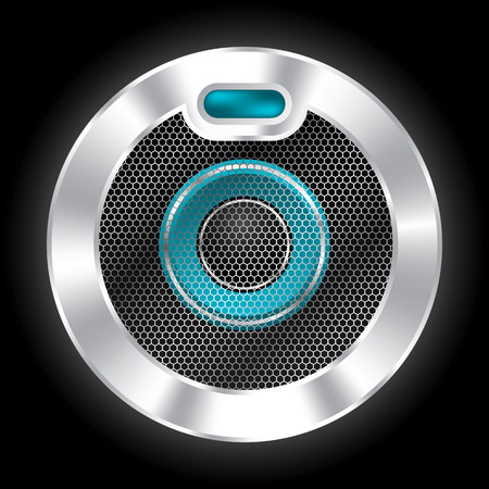 plated: Cool metallic plated speaker design with hexagon mesh