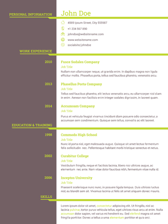 Modern Resume Cv Curriculum Vitae Template Design For Job Seekers ...