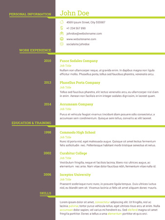 seekers: Modern resume cv curriculum vitae template design for job seekers
