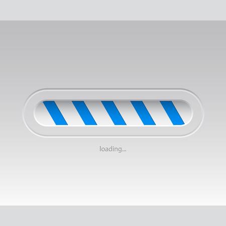 progressbar: Simplistic flat loader design with blue stripes