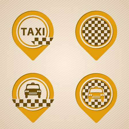 specific: Flat style gps pointer set with taxi specific elements
