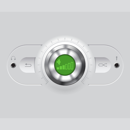 volume knob: Volume knob with headphones and or microphone output