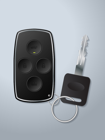 remote lock: Car remote key with lock unlock window up and trunk open circle buttons