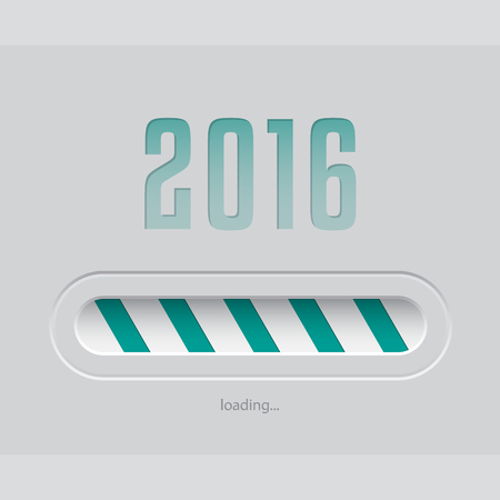 organiser: Abstract 2016 new year loading screen with striped bar