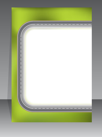 green street: Abstract brochure design with two lane road Illustration