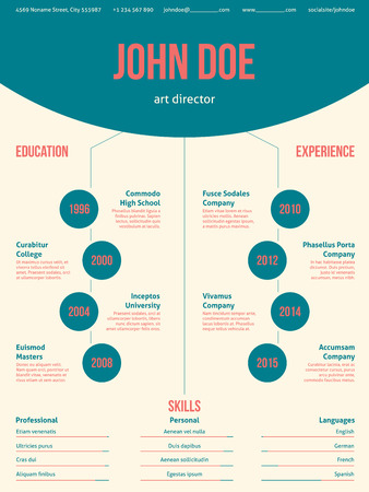 cool colors: Modern resume cv curriculum vitae template design with cool colors