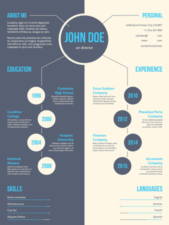 curriculum: Simplistic yet eyecatching modern resume cv curriculum vitae template design