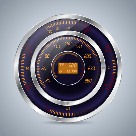 Fully digital speedometer rev counter with other instruments