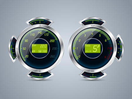 rpm: Fully digital speedometer rev counter with fuel water turbo and other gauges