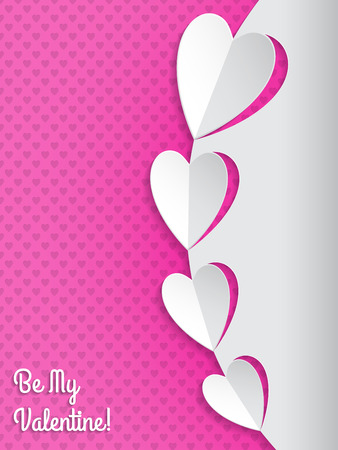 heart health: Cool valentine greeting card with heart shaped papers