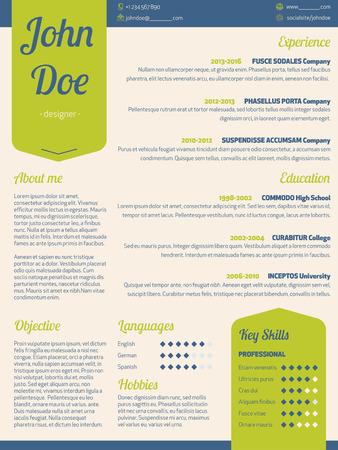 curriculum vitae: Modern resume cv curriculum vitae template with green ribbon