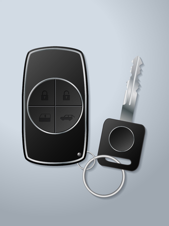 remote lock: Car key and remote with lock unlock window up and trunk open functions