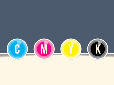 postscript: Cmyk background template with countdown design and copy space