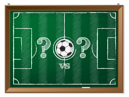 soccer field: Soccer field drawing with question mark vs question mark