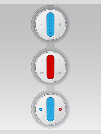recirculate: Digital air conditioning control panel combo in white with color lcd display