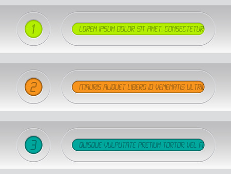 Tech infographic background design with light colors and colorful lcd displays