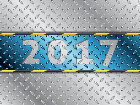 blue stripe: Industrial 2017 background design with blue stripe Illustration
