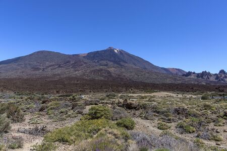 The Teide volcano in Tenerife. Spain. Canary Islands. The Teide is the main attraction of Tenerife. The volcano itself and the area that surrounds it form the Teide national Park. travel destination