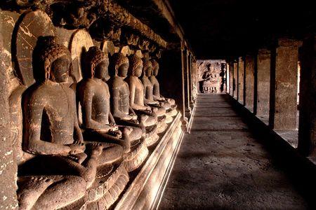 focal: This image was taken at world heritage Ellora Caves near Aurangabad City of India.
