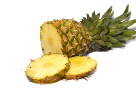 Pineapple isolated on white background. Pineapple collection.