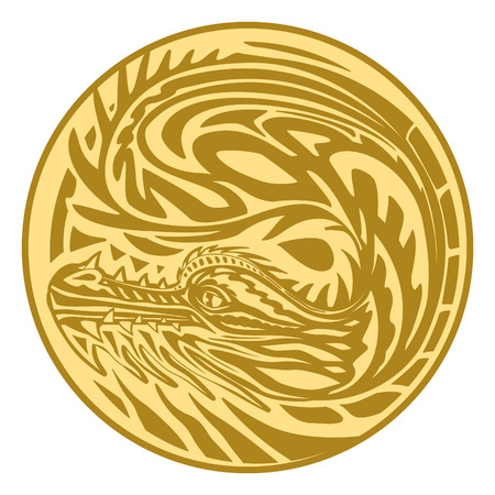ideograph: Medal dragon gold