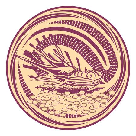 ideograph: Medal dragon garnet