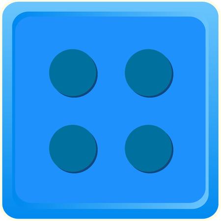 Blue coloured Lego Toy illustration Vector Illusztráció