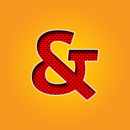 Single Character & Ampersand Sign Font In Orange And Yellow Color ...