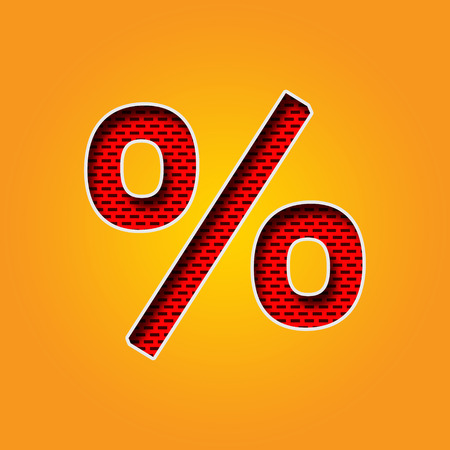 Single Character % Percentage Sign Font In Orange And Yellow.. Stock ...