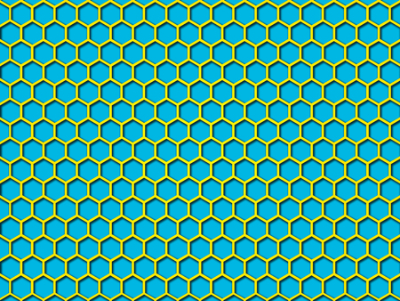 Blue color Honeycomb Pattern Background. This is Blue color honeycomb abstract pattern illustration  background. that you can use for background and make application for android and ios. Stock Photo
