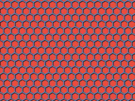 Red color Honeycomb Pattern Background. This is red color honeycomb abstract pattern illustration  background. that you can use for background and make application for android and ios.