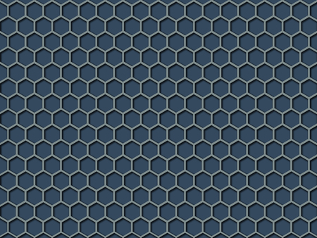 Blue color Honeycomb Pattern Background. This is blue color honeycomb abstract pattern illustration  background. Stock Photo