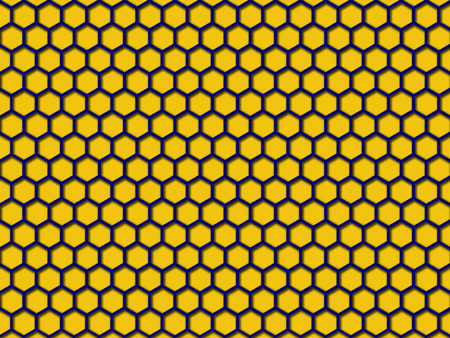 Yellow color Honeycomb Pattern Background. This is yellow color honeycomb abstract pattern illustration  background.