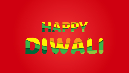 Illustration of Diwali Festival Greetings card. Diwali Festival Greetings card in illustration, With solid background banner. Decorative Typography Happy diwali.