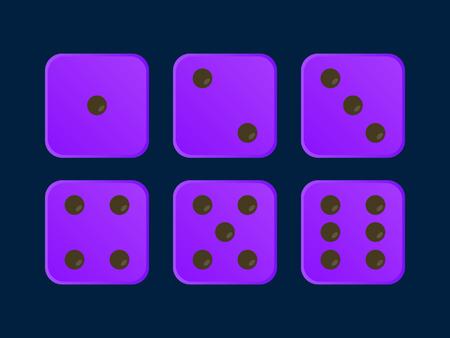 Purple color Vector Dice