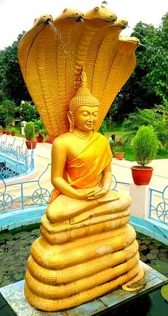 Statue of Lord Buddha at Sarnath in Varanasi